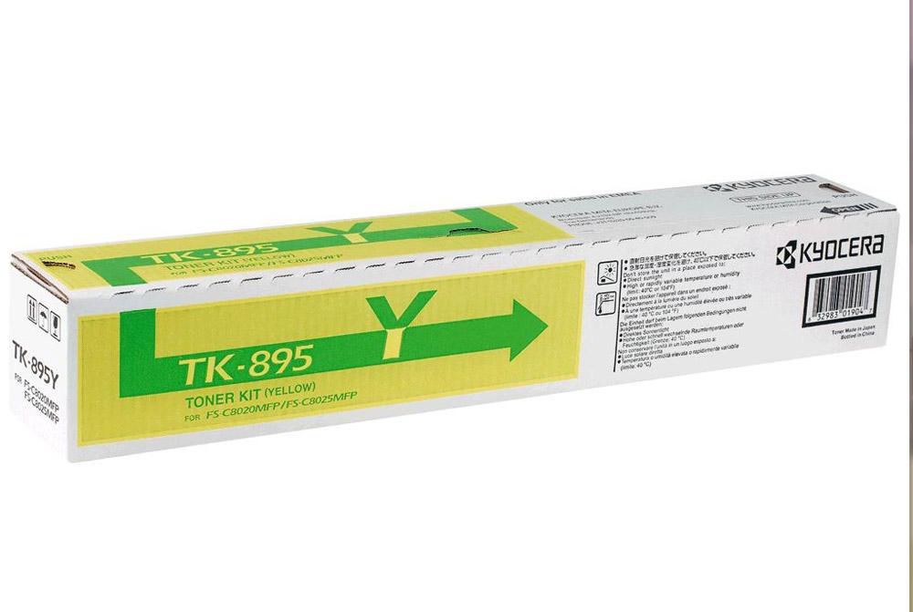 Toner Kyocera TK-895Y žlutý Toner, pro Kyocera FS-802x, 6 000 stran, žlutý TK-895Y