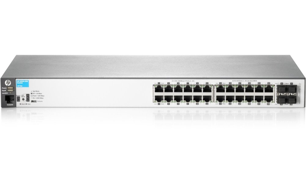 Switch HP 2530-24G Switch, 24 x RJ-45, 10/100/1000, stříbrný J9776A