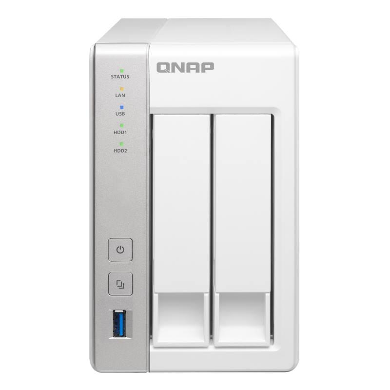 Síťové úložiště NAS Q-NAP TS-231 Síťové úložiště NAS, 2-bay Turbo NAS Server, ARM Cortex-A9 dual-core, 1,2GHz, DRAM 512MB, 2x 3,5, 2x 1Gb LAN TS-231