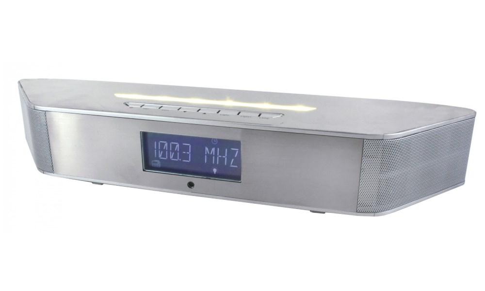 Rádio Soundmaster BT1308SI Rádio, Bluetooth reproduktor, LCD displej, RDS, stříbrné BT1308SI