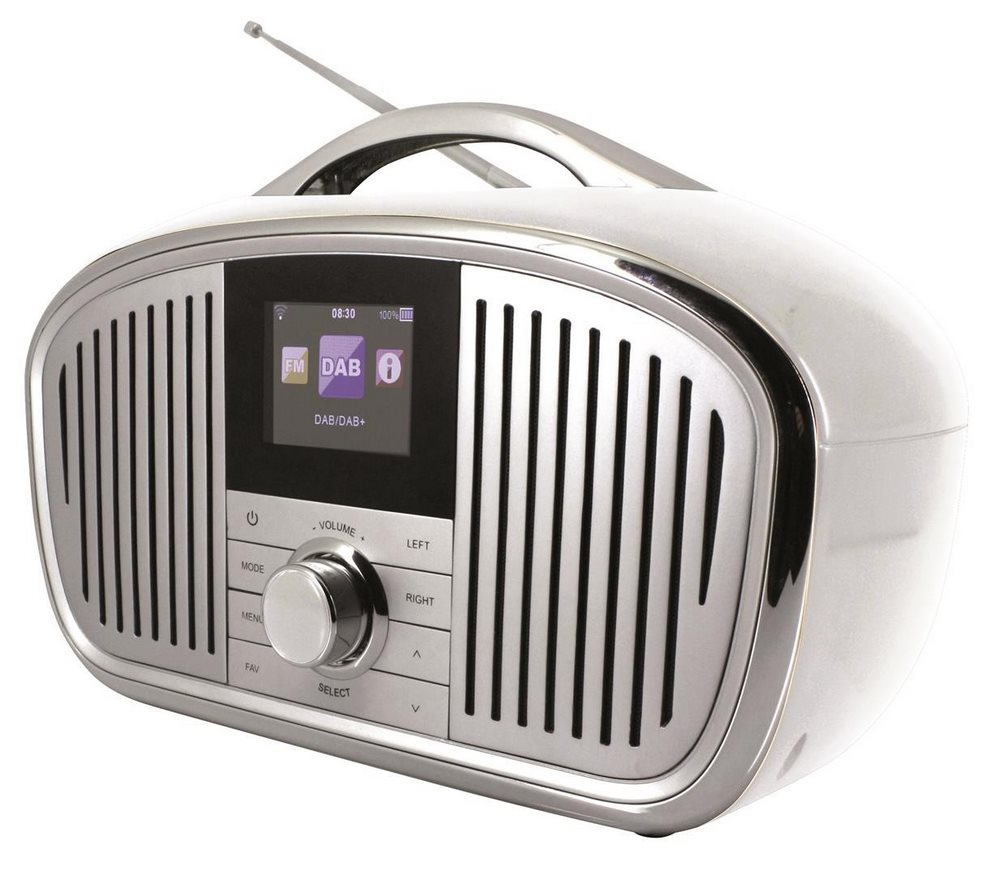 Rádio Soundmaster IR4000WE Rádio, přenosné, internetové, FM, UPnP, DLNA, DAB, stříbrné IR4000WE