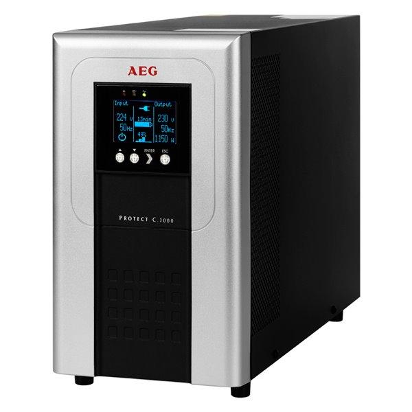 Záložní zdroj UPS AEG UPS Protect C.3000 Záložní zdroj UPS, 3000 VA, 2400 W, 230 V, online UPS, model 2014 6000016105