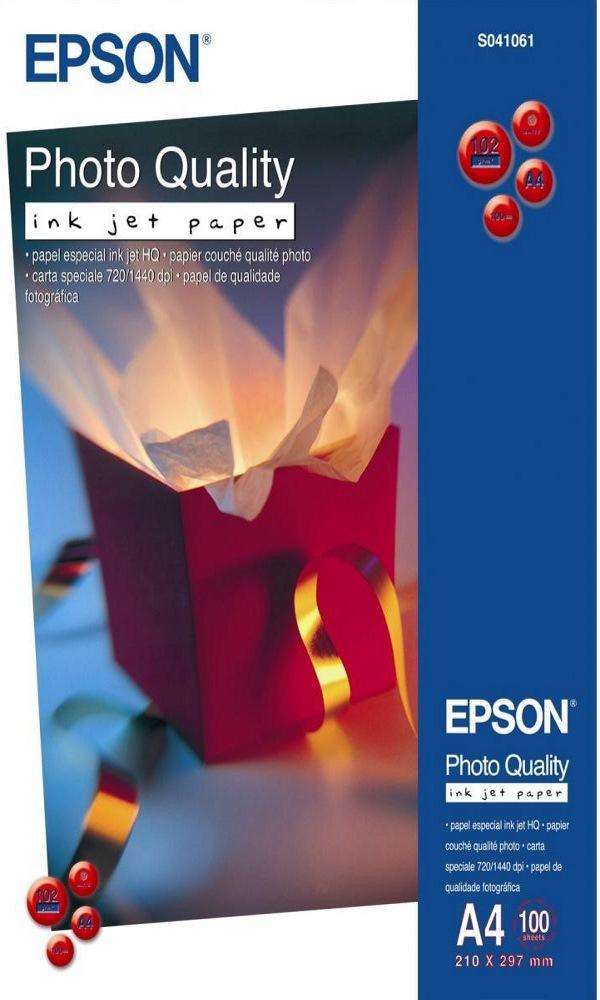 Fotopapír EPSON Photo Quality Inkjet Paper A4 Fotopapír, A4, matný, 102g, 100ks C13S041061