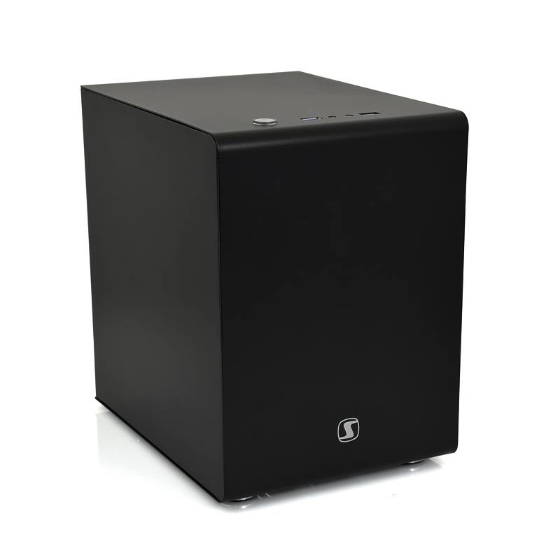 Skříň SilentiumPC Brutus Q30 Black Skříň, miniITX, micro ITX, bez zdroje, USB 3.0, 3 x 2,5/3,5, SSD, černá SPC113