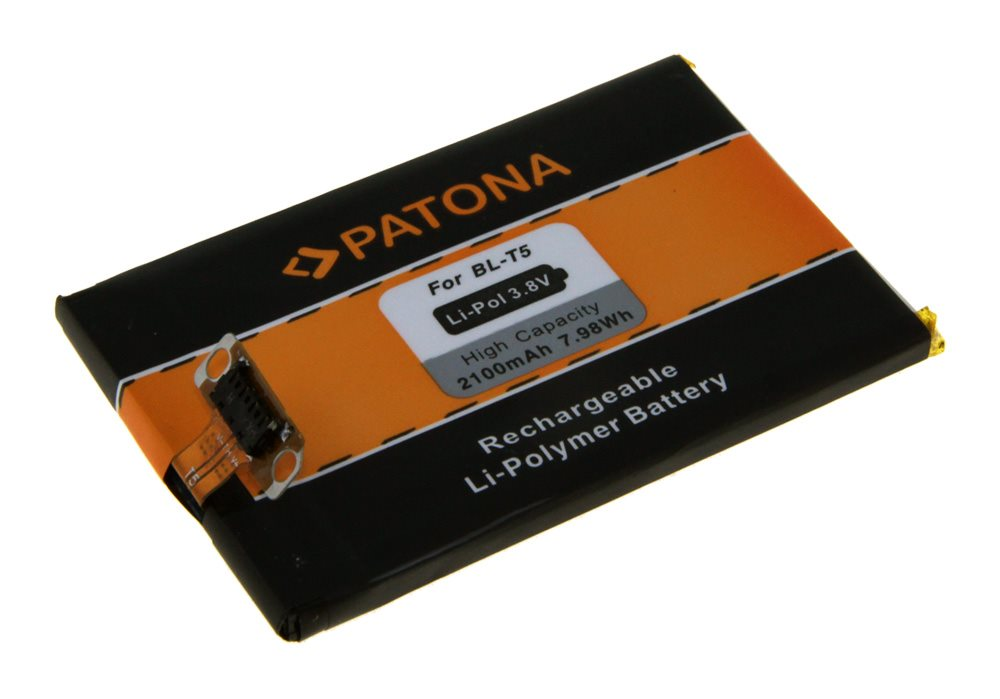 Baterie PATONA kompatibilní s LG BL-T5 2100mAh Baterie, pro mobilní telefon, BL-T5, 2100mAh, 3.8V, Li-Pol, pro Google Nexus 4, LG E960 PT3082