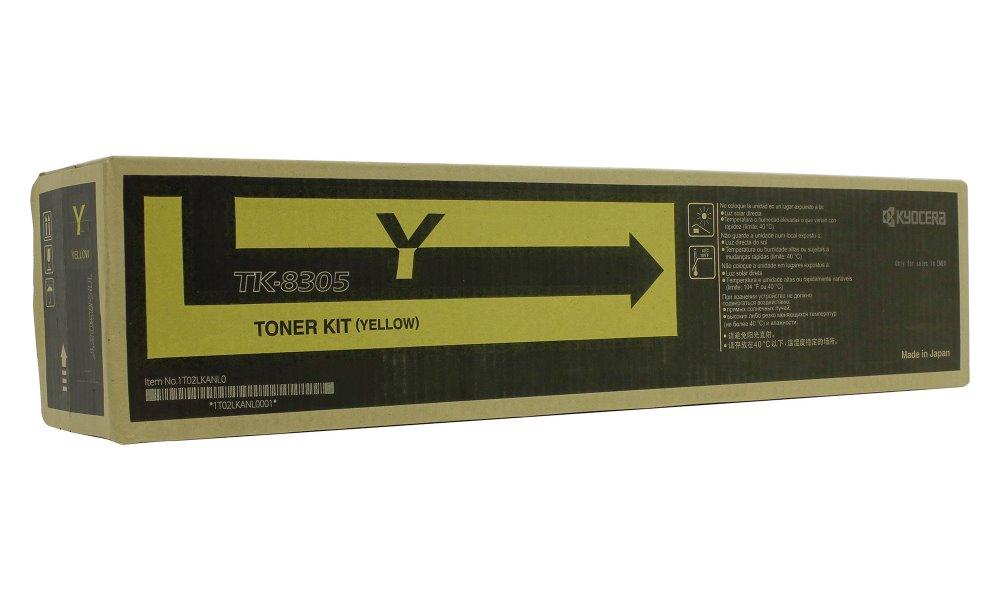 Toner Kyocera TK-8305Y žlutý Toner, originální, pro Kyocera TASKALFA 3050CI, TASKALFA 3550CI, 15000 stran, žlutý TK-8305Y