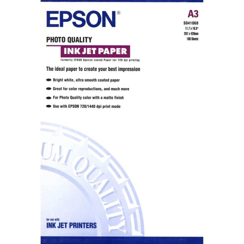 Fotopapír Epson C13S041068 Fotopapír, A3, Photo Quality Inkjet Paper, 100ks C13S041068