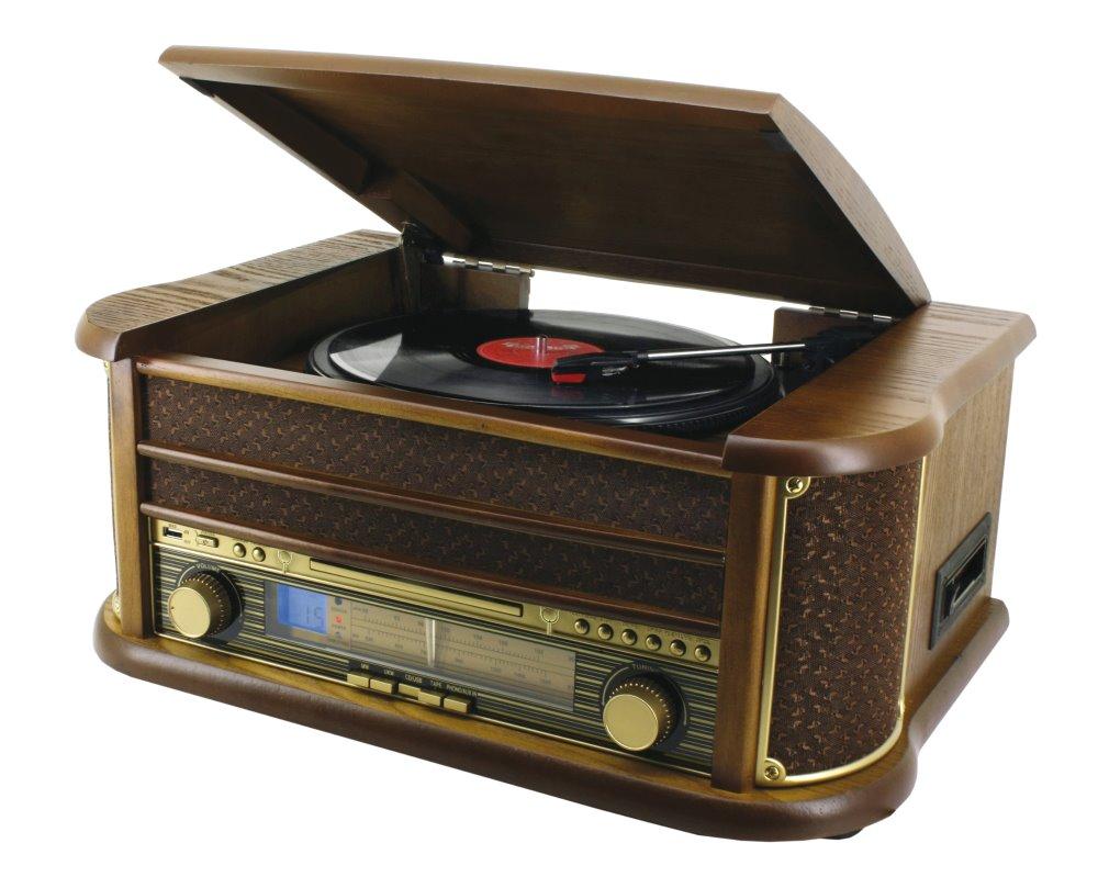 Gramofon Soundmaster NR513A Gramofon, USB, CD-RW, MP3, retro design NR513A