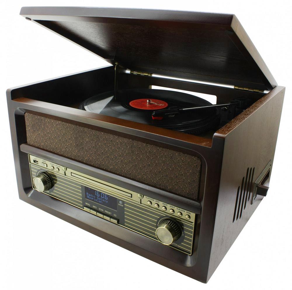 Gramofon Soundmaster NR515 Gramofon, USB, FM, DAB+, retro design NR515