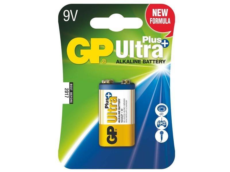 Baterie GP 9V Ultra Plus Baterie, Alkalická, 9V, Ultra Plus 1 ks 1017511000