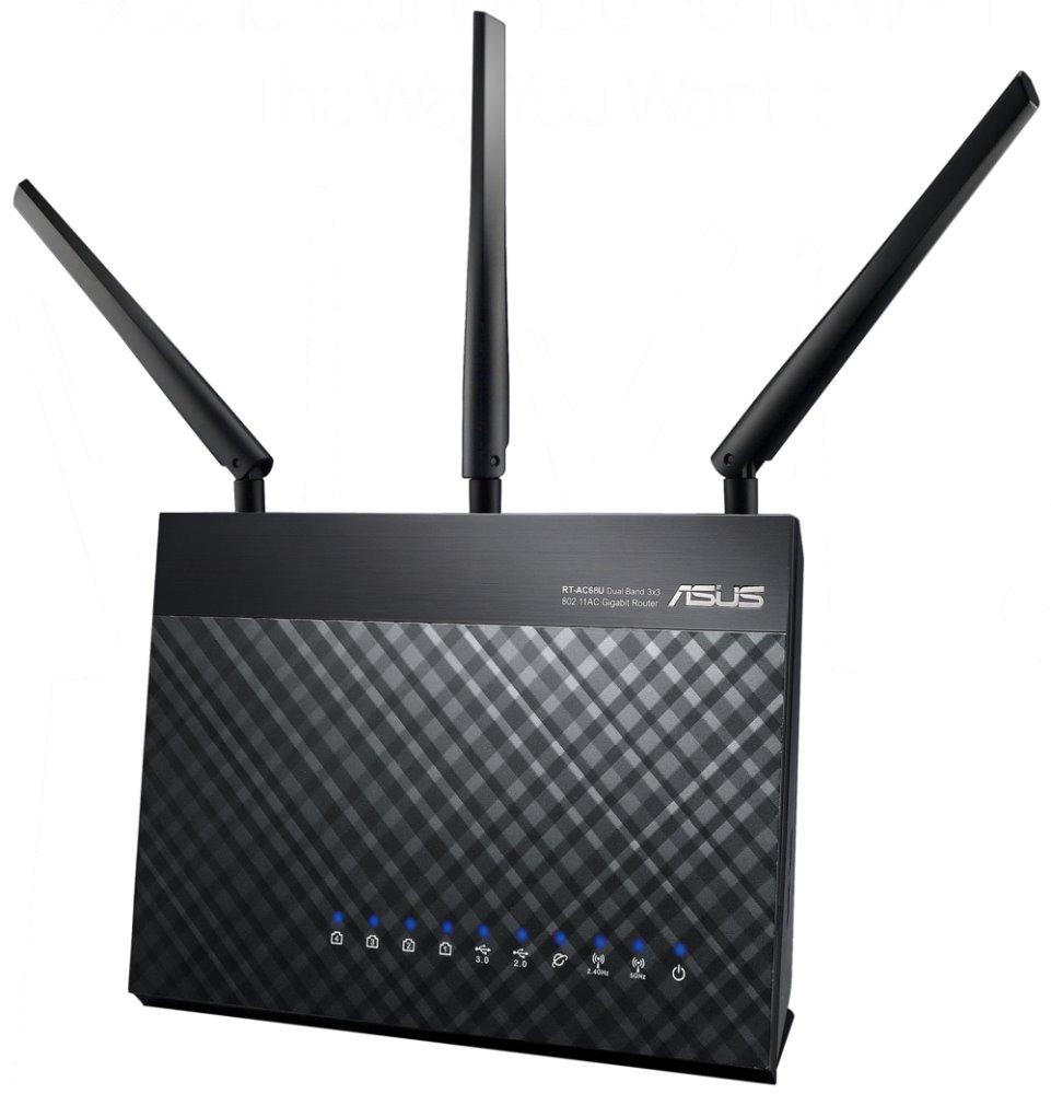 Router ASUS RT-AC68U Router, AC dual band 1900, 2x USB, 4x GLAN, 1x GWAN, CZ menu, 3roky 90IG00C0-BM3010