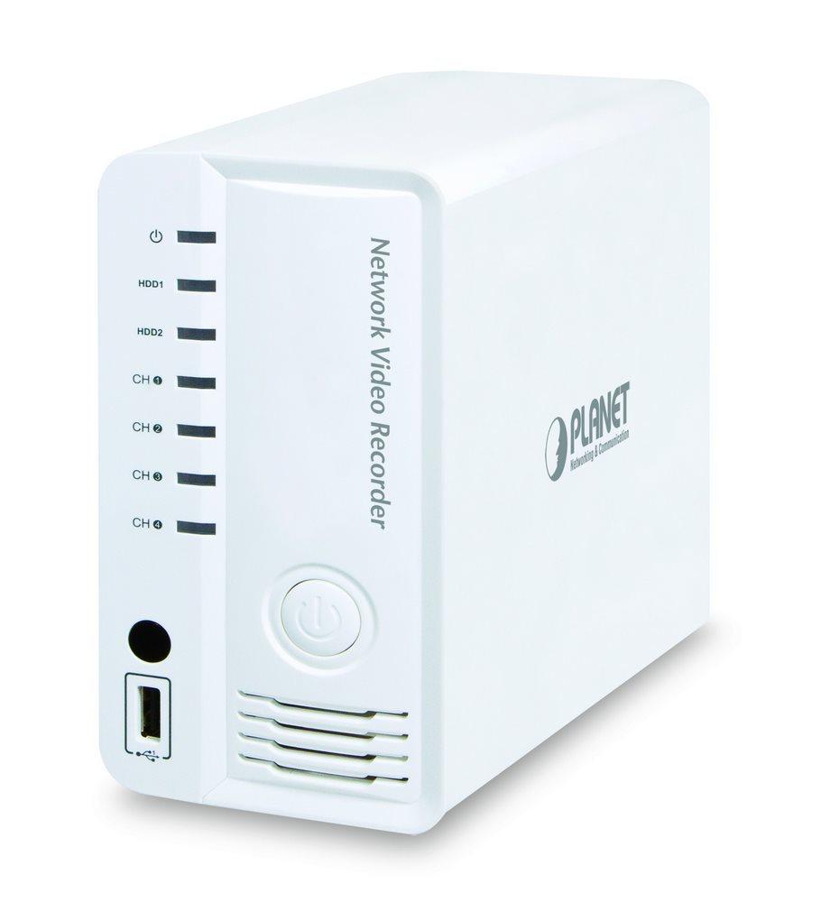 Záznamové zařízení NVR PLANET NVR-420 Záznamové zařízení, NVR pro 4 kamery, 120 FHD fps, 2x 3,5 SATA max 4TB, HDMI, 10/100 RJ45 - ROZBALENÉ NKZPNT100001V