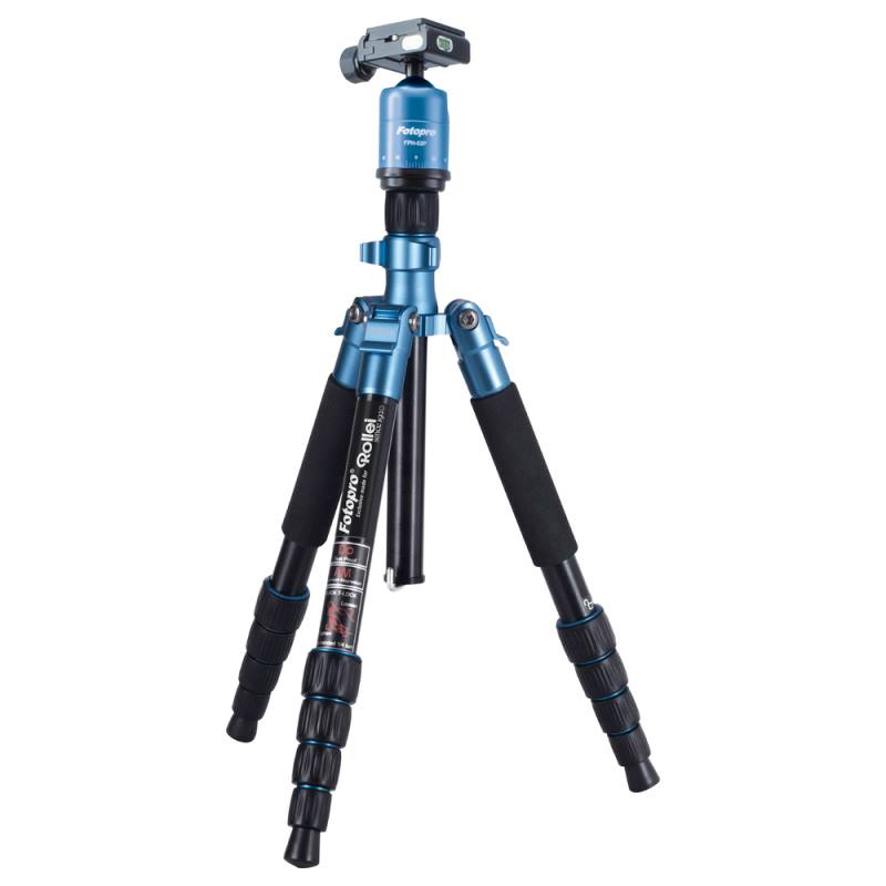 Stativ Rollei Compact Traveler No. 1 Stativ, zátěž 5kg, vytažený 134cm, modrý 20936