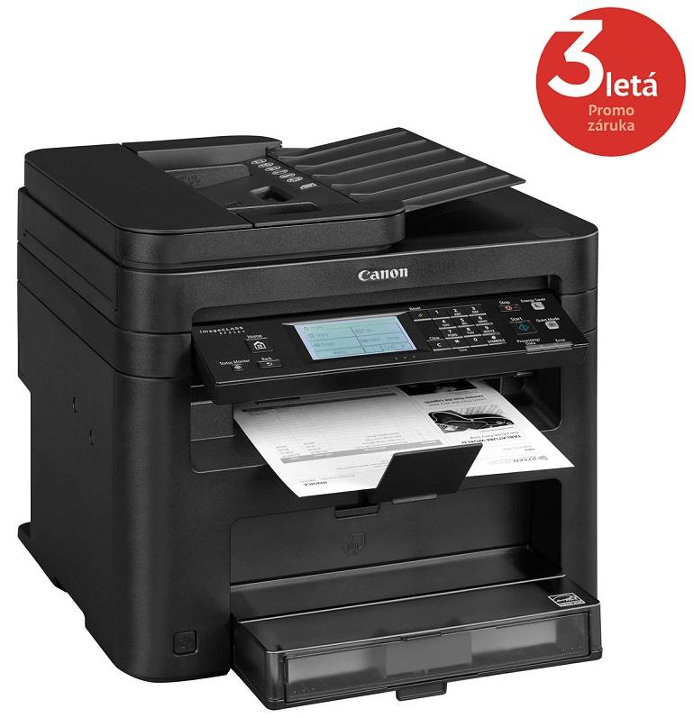 Multifunkční tiskárna Canon i-SENSYS MF216n Černobílá multifunkční laserová tiskárna, A4, 23ppm, 1200x1200dpi, ADF, Fax, LCD, USB, LAN 9540B037