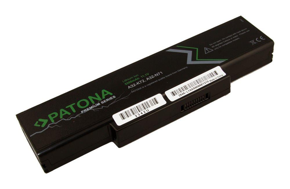 Baterie PATONA pro notebook ASUS 5200mAh Baterie, pro notebook, 5200mAh, Li-Ion, 11,1V, 6-článková, pro ASUS A32-K72, PREMIUM PT2342