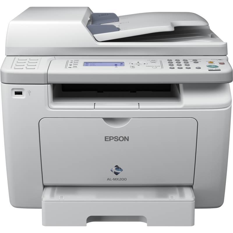 Multifunkční tiskárna EPSON WorkForce AL-MX200DNF Černobílá multifunkční laserová tiskárna, A4, ADF, Duplex, LCD, Fax, Síť, USB C11CC72031