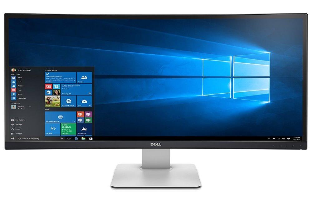 "LED monitor Dell UltraSharp U3415W 34"" LED monitor, prohnutý, 34"", 21:9, 3440x1440, 1000:1, 8ms, 3H IPS, HDMI, miniDP, DP, 6x USB, repro, 3YNBD on-site"
