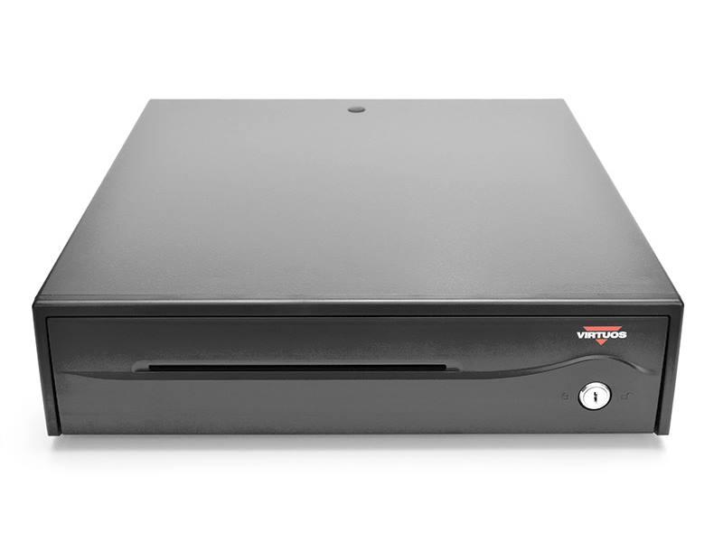 Pokladní zásuvka Virtuos C420B-RJ10P10C Pokladní zásuvka, 12V, 24V, černá, bez kabelu