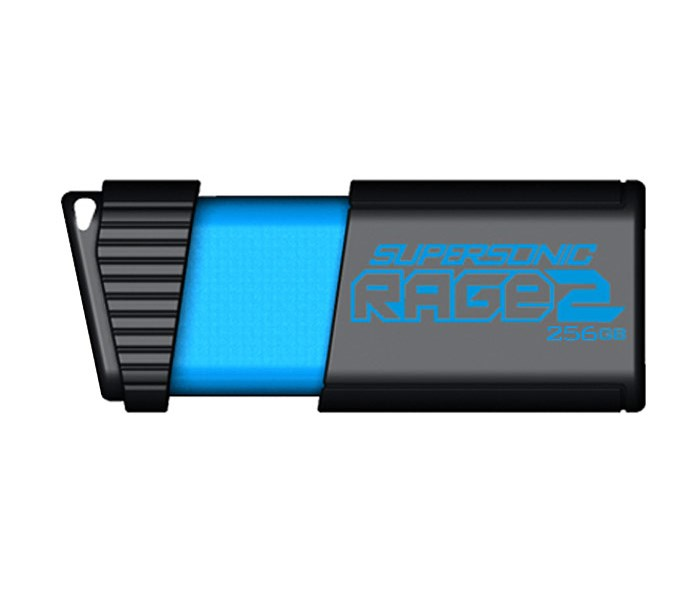 Flash disk Patriot Supersonic Rage 2 256 GB Flash disk, 256 GB, USB3.0, černomodrý PEF256GSR2USB