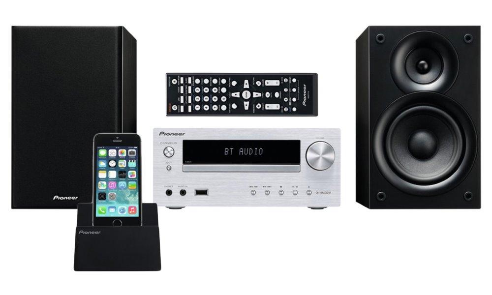 Mikrosystém PIONEER X-HM32V-K Mikrosystém, CD, s USB vstupem, RDS tuner, výkon 2x30 W, podpora Apple zařízení, HDMI, stříbrná X-HM32V-S