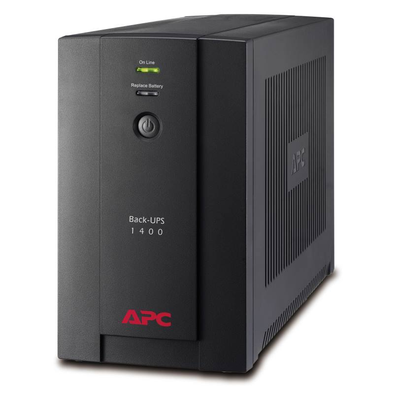 Záložní zdroj UPS APC Back-UPS 1400VA 700W Záložní zdroj UPS, 1400 VA, 700 W, AVR, 6 x IEC 320 C13 zásuvka BX1400UI