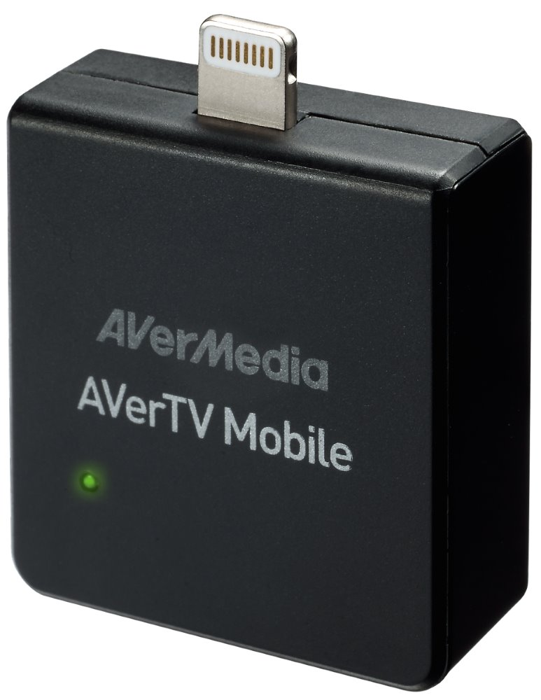 Externí DVB-T tuner AVERMEDIA AVerTV Mobile iOS Externí DVB-T tuner pro iPhone 5/5S/5C, iPod Touch 5, iPad 4/Air/Mini/Mini s Retina displejem, anténa v balení 61EW3300A0AB