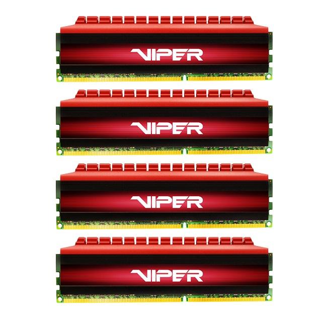 Operační paměť RAM PATRIOT Viper 4 DDR4 16GB Operační paměť, 4 x 4 GB, 2666 MHz, Quad Kit PV416G266C5QK