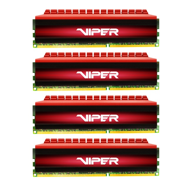 Operační paměť RAM PATRIOT Viper 4 DDR4 16GB Operační paměť, 4 x 4 GB, 2400 MHz, Quad Kit PV416G240C5QK