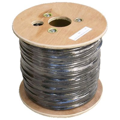 Síťový kabel FTP DATACOM cat.6e, 305m, venkovní Síťový kabel, FTP, cat.6e, PE+PVC, drát, 305m, měděný, průřez 0,55mm, černý, venkovní, typ balení cívka 1129