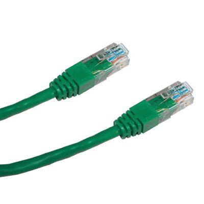Patch kabel DATACOM UTP cat.6 1 m zelený Patch kabel, UTP, cat.6, lanko, RJ45, 1 m, zelený 15914