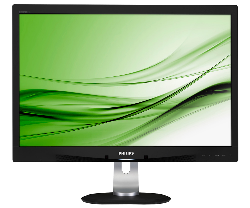 LED monitor PHILIPS 240B4QPYEB 24 LED monitor, 1920x1200, 5ms, 20mil:1, DP, 2x USB, PLS, PowerSensor, pivot, repro 240B4QPYEB/00