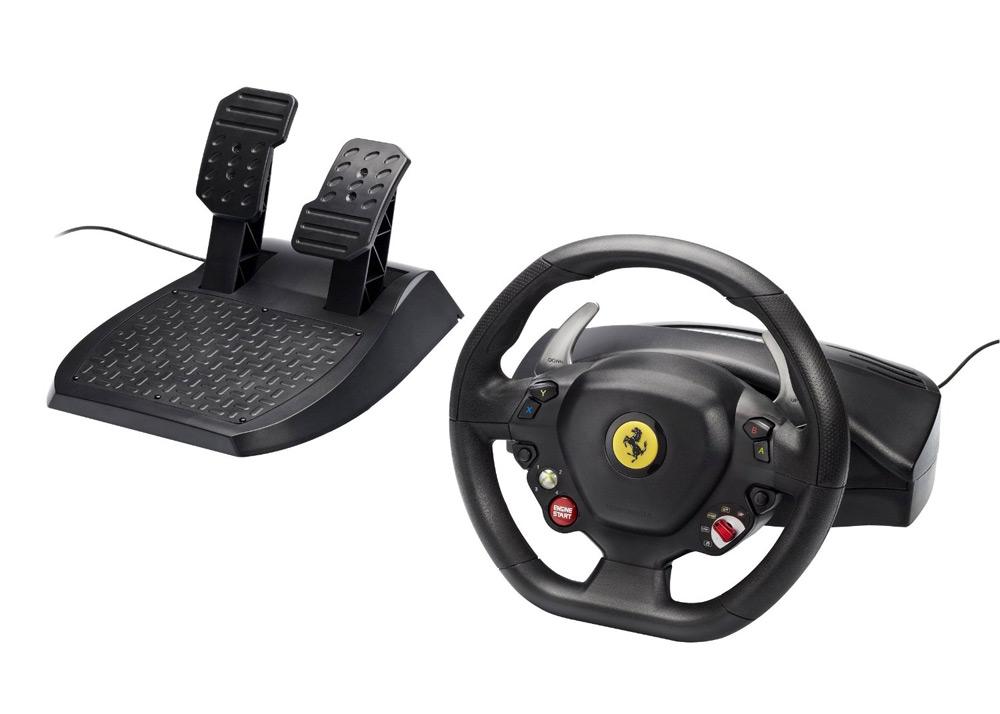 Volant THRUSTMASTER Ferrari 458 Italia Volant, pedály, pro Xbox 360, PC 4460094