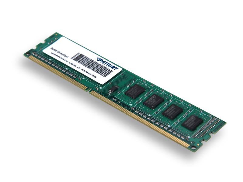 Operační paměť Patriot Signature DDR3 4GB 1600MHz Operační paměť, DDR3, SL PC3-12800, 1600MHz, CL11 PSD34G160081