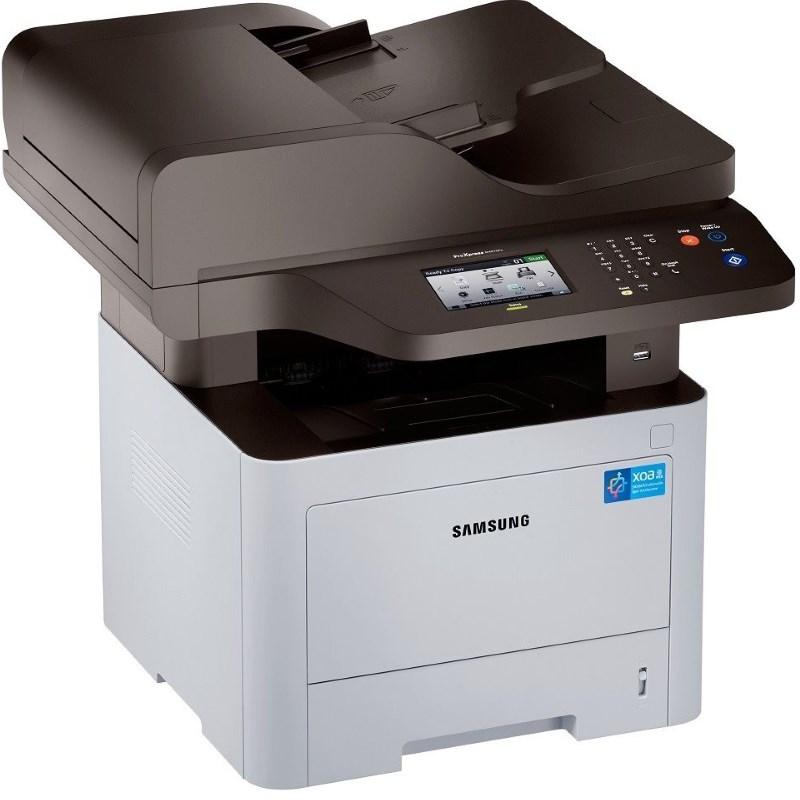 Multifunkční tiskárna SAMSUNG SL-M4075FX Černobílá multifunkční laserová tiskárna, MFP+fax, 4.3 dotykový LCD, A4, 40ppm, 1200x1200dpi, 1GHz, 1GB, 4GB flash, PCL+PS, USB+LAN, RADF, Duplex SL-M4075FX/SEE