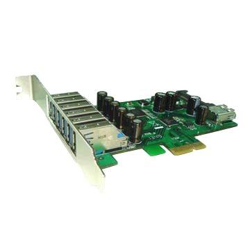 Řadič Kouwell UB-127 Řadič, PCIe karta, 6x USB 3.0 port, 1x interní, včetně Low profille UB-127