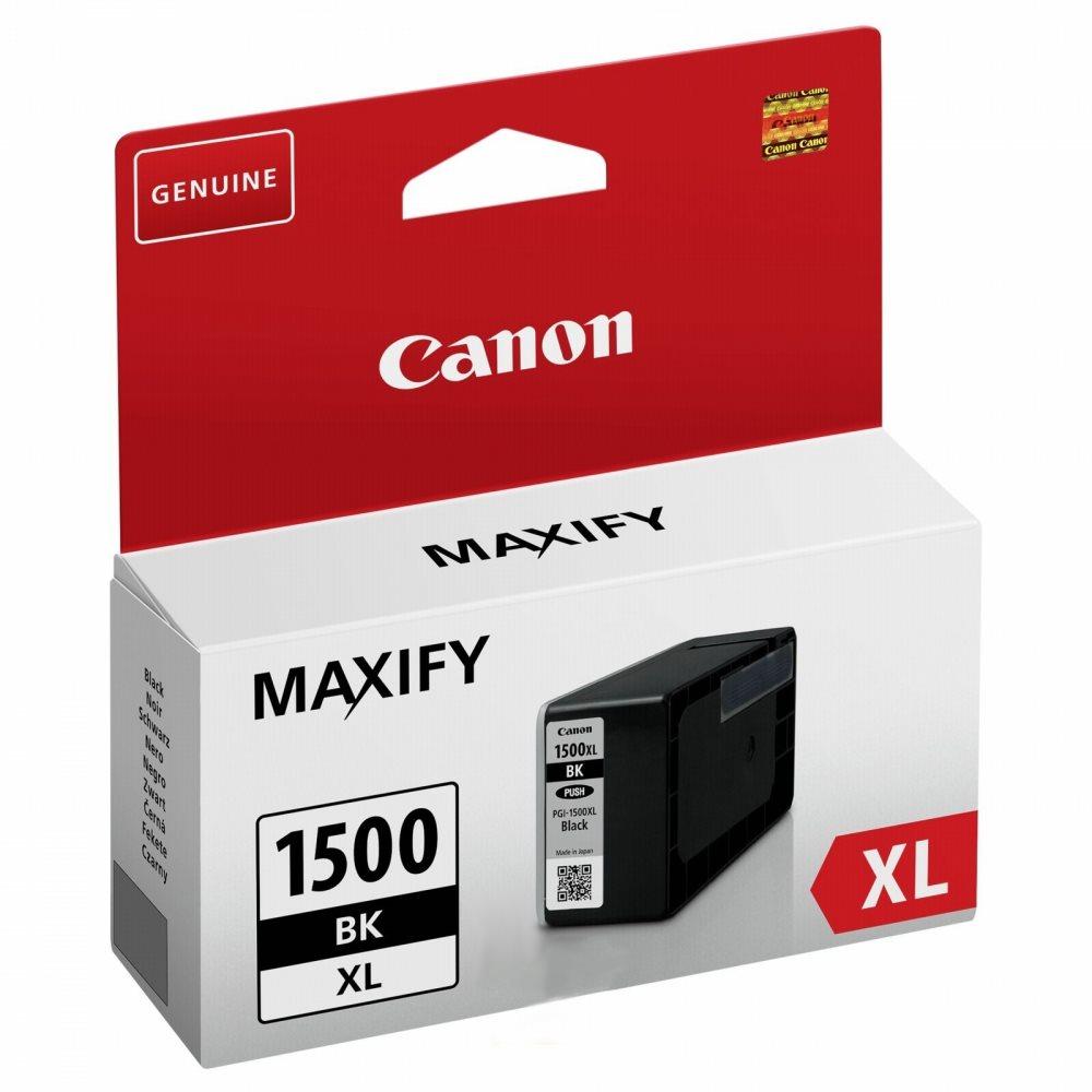 Inkoustová náplň Canon pro PGI-1500/XL černá Inkoustová náplň, kompatibilní s Canon MAXIFY MB2050 a MB2350, černá, 34,7 ml 9182B001