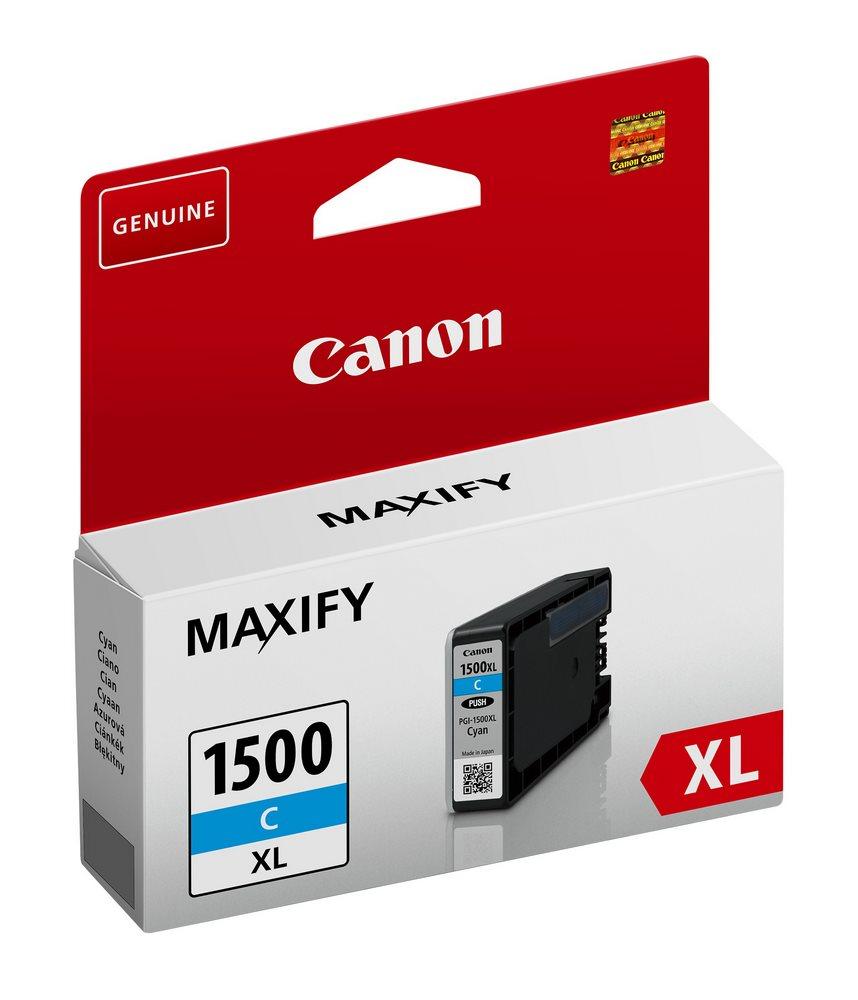 Inkoustová náplň Canon pro PGI-1500/XL modrá Inkoustová náplň, kompatibilní s Canon MAXIFY MB2050 a MB2350, modrá, 12 ml 9193B001