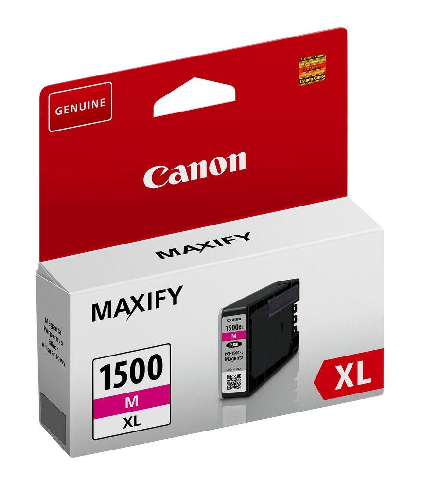 Inkoustová náplň Canon pro PGI-1500/XL magenta Inkoustová náplň, kompatibilní s Canon MAXIFY MB2050 a MB2350, magenta, 12 ml 9194B001