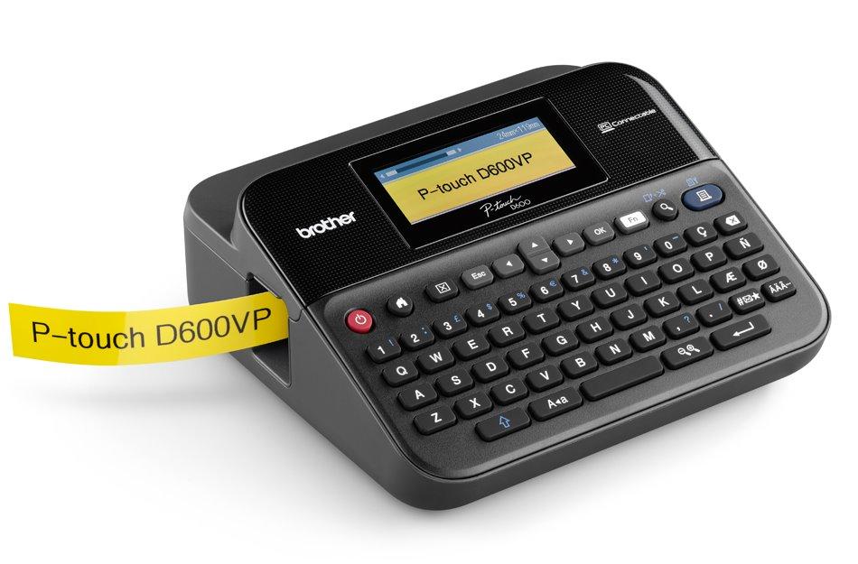 Tiskárna samolepících štítků BROTHER PT-D600VP Tiskárna samolepících štítků, 180 dpi, LCD, USB, kufr PTD600VPYJ1