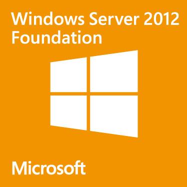 Operační systém MS WINDOWS SVR 2012 Foundation CZ Operační systém, 64bit, 15users, vč.média - k serverům HAL3000 SWHAL207