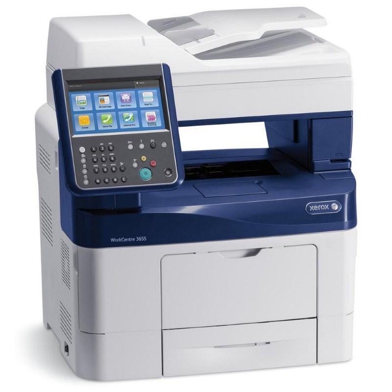 Multifunkční tiskárna Xerox WorkCentre 3655 Černobílá multifunkční laserová tiskárna, A4, 45ppm, DUPLEX, LAN, 1200dpi 3655V_X
