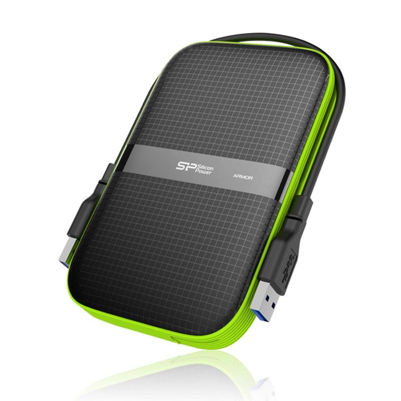 Pevný disk SILICON POWER Armor A60 500 GB Pevný disk, externí, USB3.0, odolný vůči vodě a nárazům SP500GBPHDA60S3K