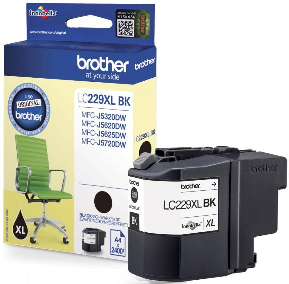BROTHER inkoustová náplň LC-229XLBK/ Černá/ 2400 stran - pouze MFC-J5xxxDW
