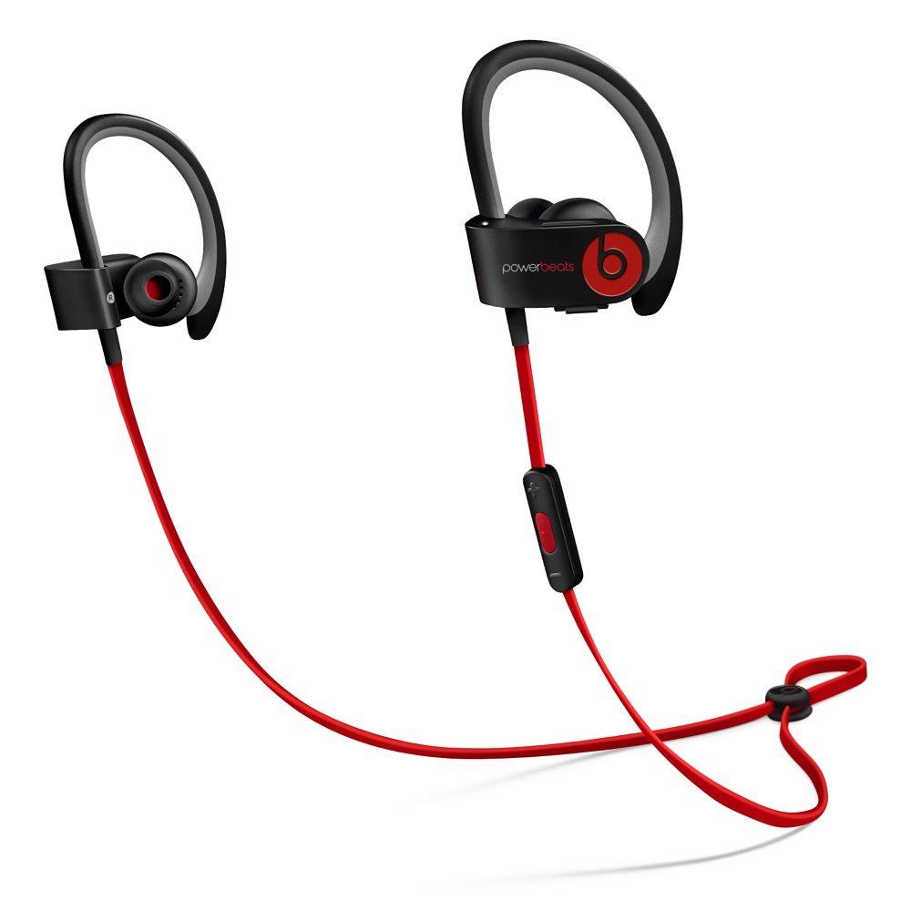 Sluchátka PowerBeats2 by Dr. Dre Wireless černá Sluchátka, sportovní, bezdrátová, voděodolná, do uší, pecky, 4 páry nástavců do uší, odolné pouzdro, 0.5m, Black new MHBE2ZM/A