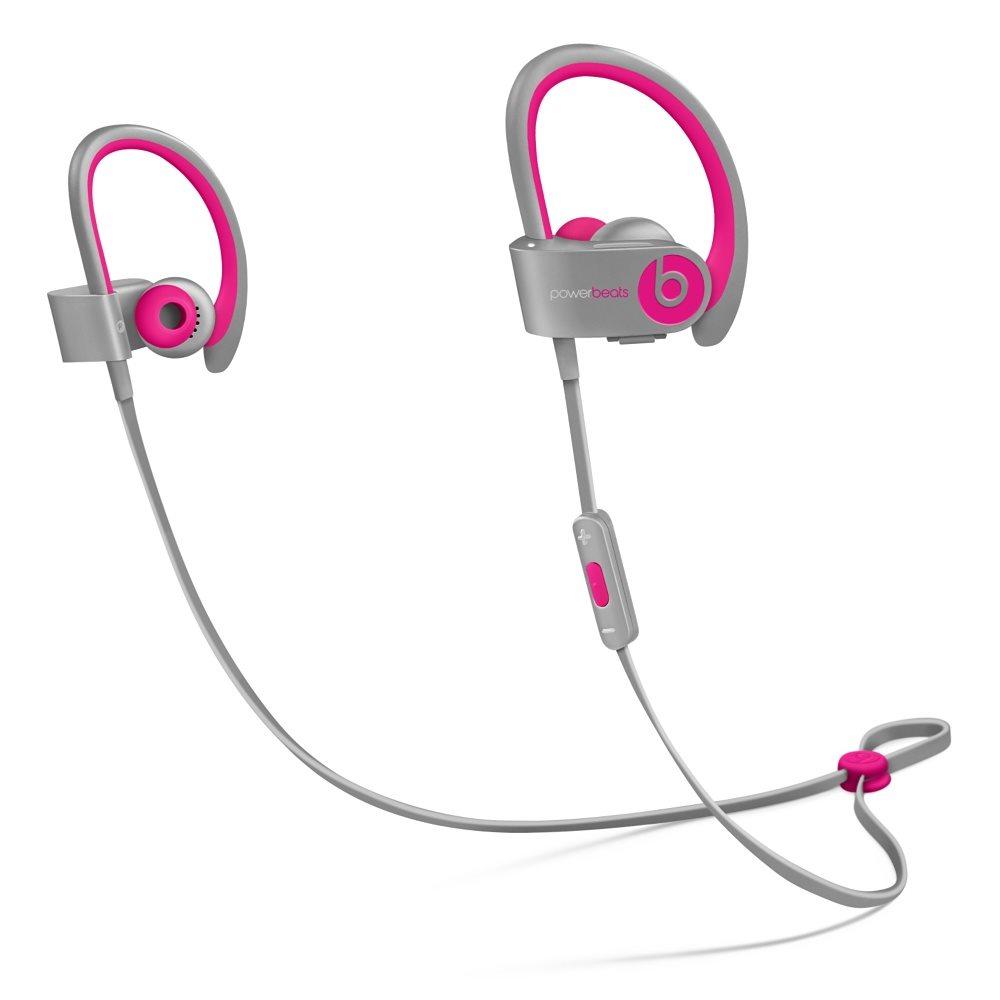 Sluchátka PowerBeats2 by Dr. Dre Wireless růžová Sluchátka, sportovní, bezdrátová, voděodolná, do uší, pecky, 4 páry nástavců do uší, odolné pouzdro, 0.5m, Pink-Gray new MHBK2ZM/A
