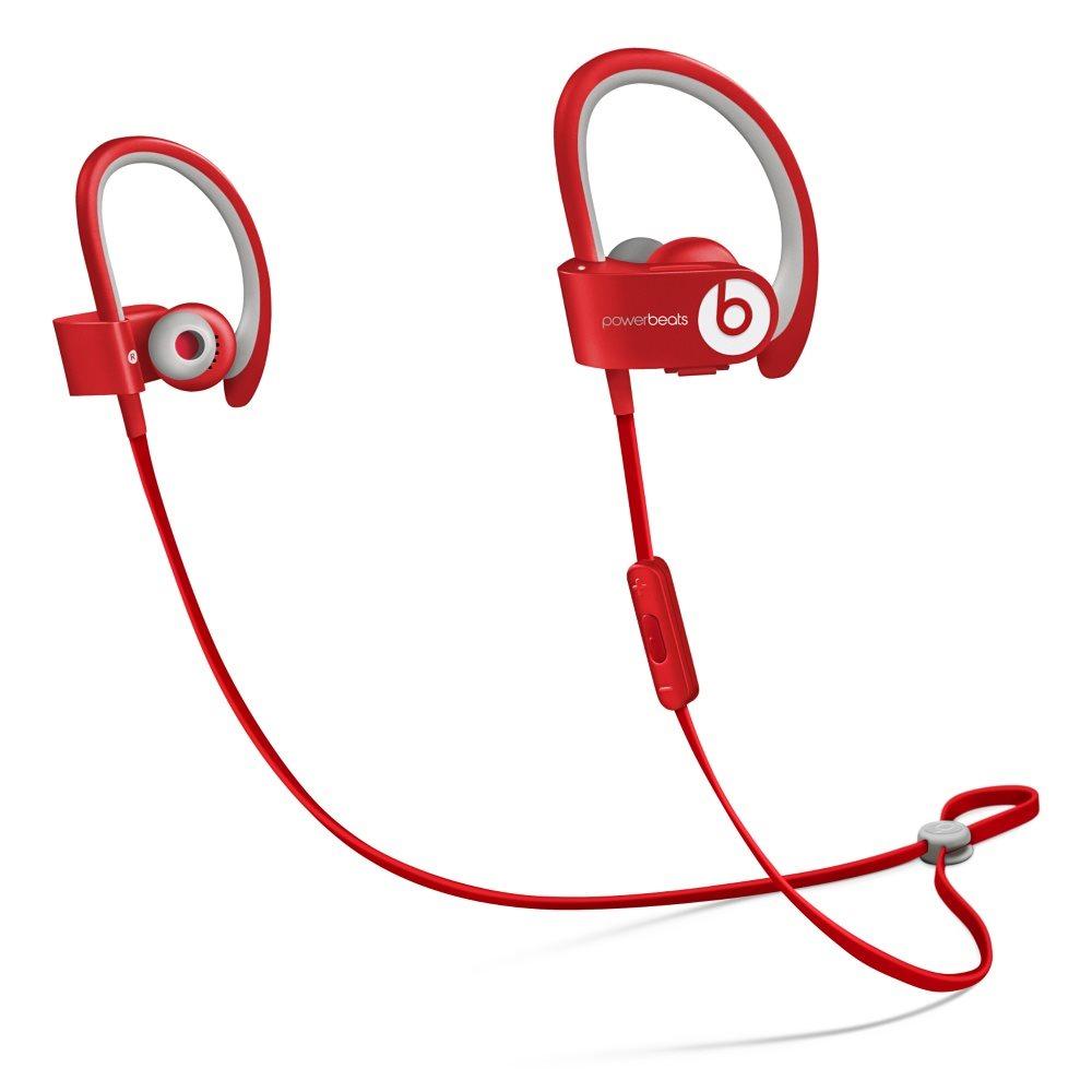 Sluchátka PowerBeats2 by Dr. Dre Wireless červená Sluchátka, sportovní, bezdrátová, voděodolná, do uší, pecky, 4 páry nástavců do uší, odolné pouzdro, 0.5m, Red new MHBF2ZM/A