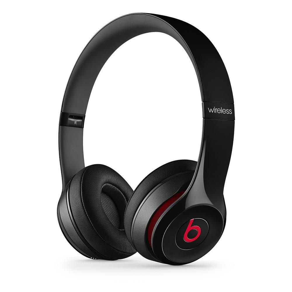 Sluchátka Beats by Dr. Dre Solo 2 Wireless černá Sluchátka, bezdrátová, náhlavní, uzavřená, pouzdro, Black MHNG2ZM/A