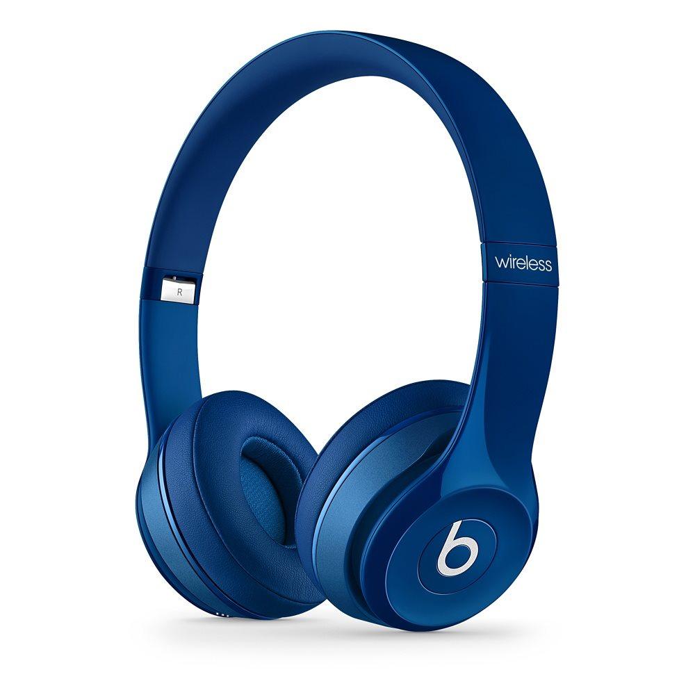 Sluchátka Beats by Dr. Dre Solo 2 Wireless modrá Sluchátka, bezdrátová, náhlavní, uzavřená, pouzdro, Blue MHNM2ZM/A