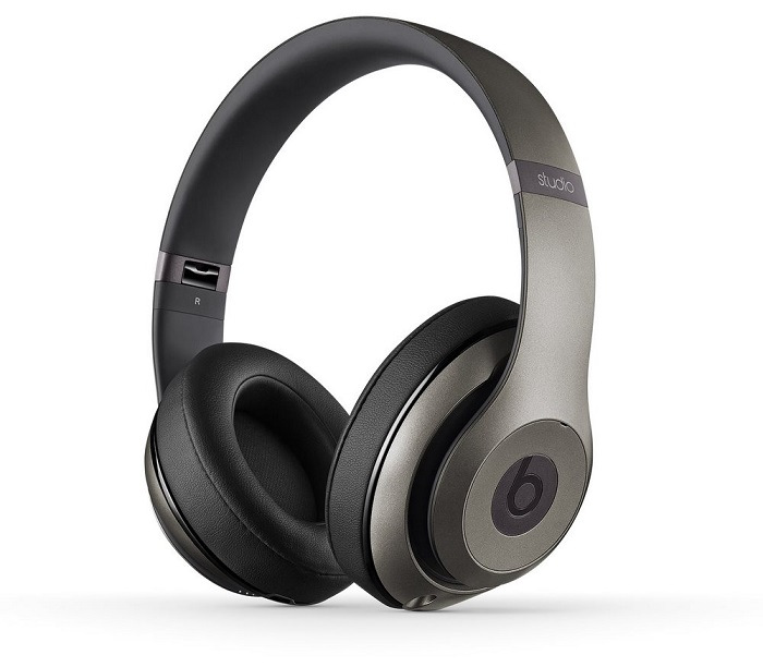 Sluchátka Beats by Dr. Dre Studio 2.0 šedá Sluchátka, drátová, náhlavní, uzavřená, pouzdro, Titanium MHAD2ZM/A