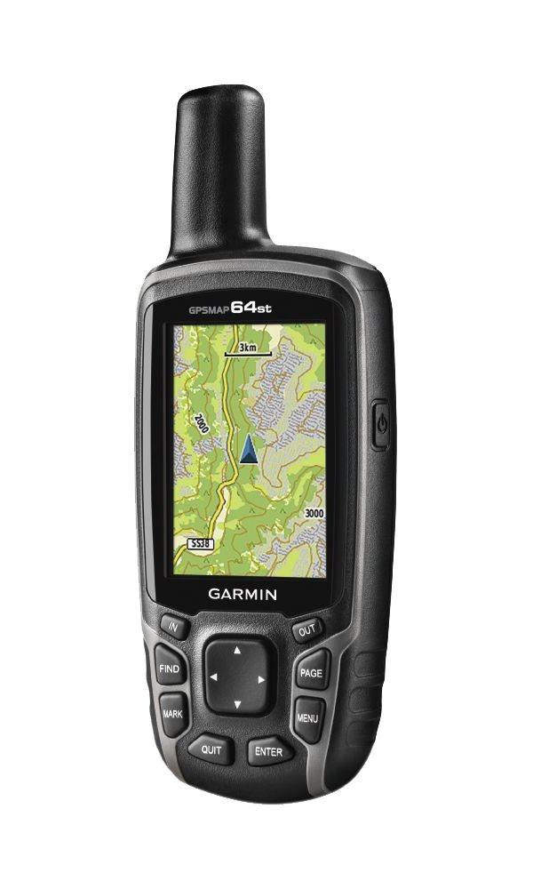 Turistická navigace GARMIN GPSMAP 64st PRO Turistická navigace, nedotykový 2.6, ruční, outdoorová, turistická mapa ČR + Evropy, elektronický kompas, barometrický výškoměr, voděodolná, podpora 010-01199-92